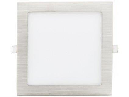 Matný chrom vestavný LED panel 90x90mm 3W teplá bílá
