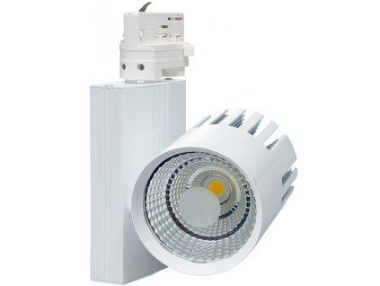 40W,4000lm,100mm,215mm,40W COB,Bílý 3-fázový lištový LED reflektor 40W denní bílá