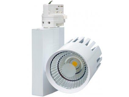 30W,2700lm,100mm,215mm,30W COB,Bílý 3-fázový lištový LED reflektor 30W denní bílá
