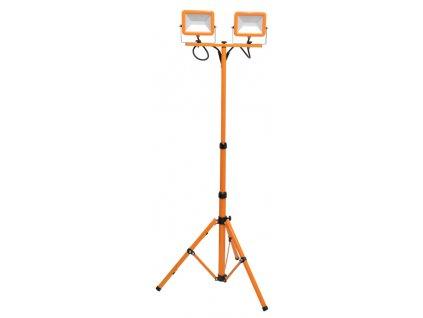 30W,4800lm,1800mm,60W COB,Oranžový LED reflektor s teleskopickým stojanem 2x30W denní bílá