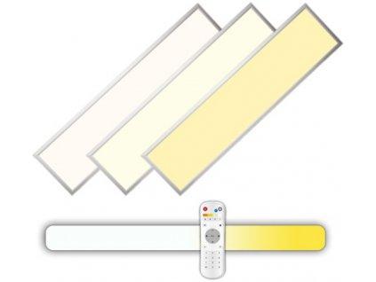 Stříbrný podhledový LED panel 60W 300x1200 s ovladačem 3000-6000K