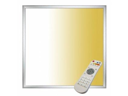 Stmívatelný Stříbrný podhledový LED panel 40W 600x600 s ovladačem 3000-6000K