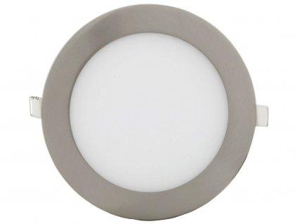 Matný chrom vestavný LED panel 90mm 3W teplá bílá