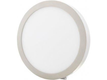 Chromový kruhový přisazený LED panel 300mm 25W teplá bílá