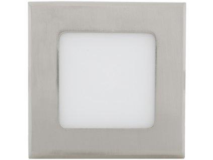Chromový vestavný LED panel 120x120mm 6W denní bílá