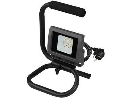 10W,800lm,170x265mm,15x SMD,Černý LED reflektor 10W vana handy denní bílá