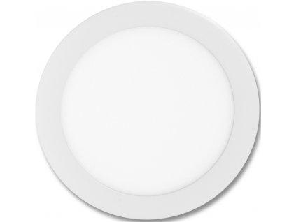 Stmívatelný Bílý kruhový vestavný LED panel 225mm 18W teplá bílá