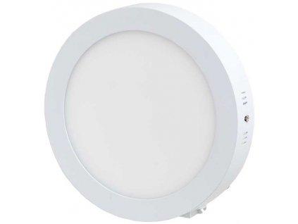 Stmívatelný Bílý přisazený LED panel 225mm 18W teplá bílá