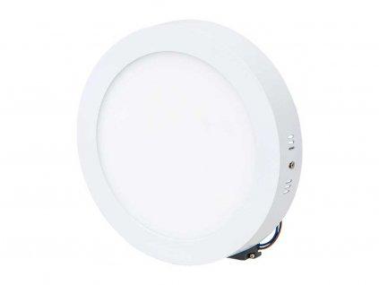 Stmívatelný Bílý přisazený LED panel 225mm 18W denní bílá