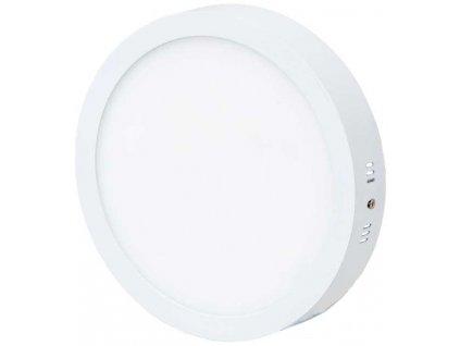Stmívatelný Bílý kruhový přisazený LED panel 300mm 25W teplá bílá