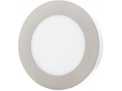 Stmívatelný Chromový kruhový přisazený LED panel 175mm 12W teplá bílá