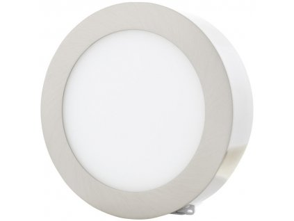 Stmívatelný Chromový kruhový přisazený LED panel 225mm 18W denní bílá