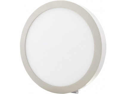 Stmívatelný Chromový kruhový přisazený LED panel 300mm 25W teplá bílá