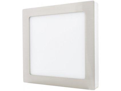 Stmívatelný Chromový přisazený LED panel 175 x 175mm 12W teplá bílá