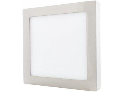 Stmívatelný Chromový přisazený LED panel 225 x 225mm 18W teplá bílá