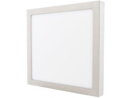 Stmívatelný Chromový přisazený LED panel 300 x 300mm 25W teplá bílá