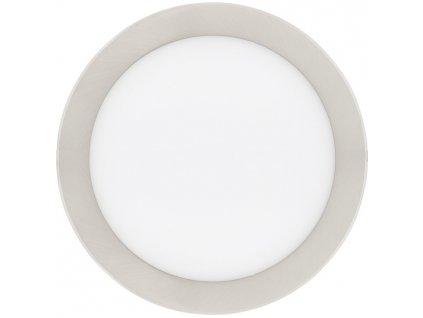 Stmívatelný Chromový kruhový vestavný LED panel 225mm 18W teplá bílá