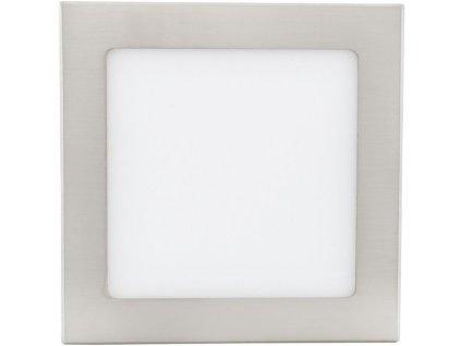 Stmívatelný Chromový vestavný LED panel 175 x 175mm 12W teplá bílá