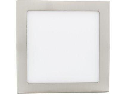 Stmívatelný Chromový vestavný LED panel 225 x 225mm 18W teplá bílá