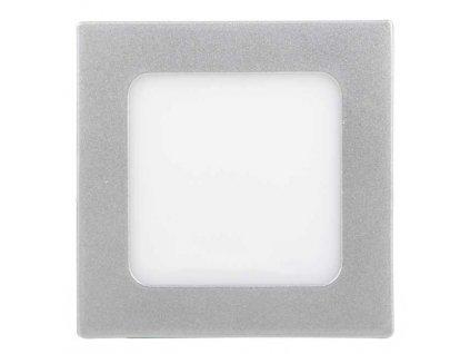 Stmívatelný stříbrný vestavný LED panel 120 x 120 mm 6W teplá bílá