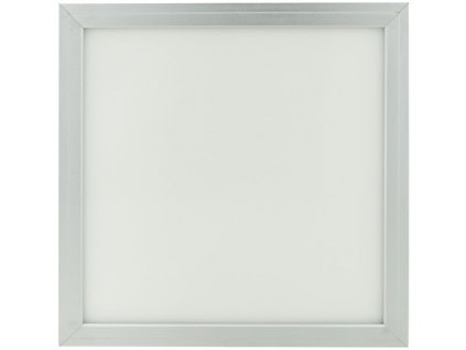 Stmívatelný Stříbrný podhledový LED panel 300x300mm 18W denní bílá(0-10V)