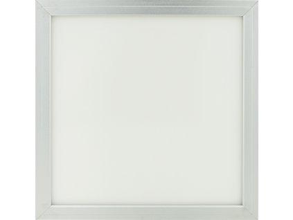 Stmívatelný Stříbrný podhledový LED panel 300x300mm 18W studená bílá(0-10V)