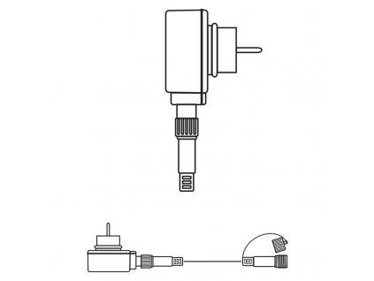 Napájecí zdroj pro Profi LED spojovací řetěz černý, 5m, čas.