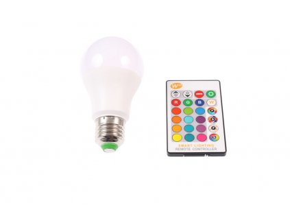 LED žárovka RGBW 5W E27 - 360° - LED žárovka RGBW 5W E27 - 360°