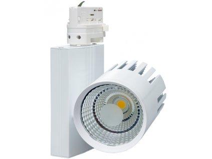20W,1800lm,100mm,215mm,20W COB,Bílý 3-fázový lištový LED reflektor 20W denní bílá