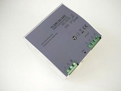 LED zdroj 24V 240W na DIN lištu - DIN lišta 24V 240W TLDR-24-240 zdroj vnitřní