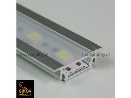 Alu profil pro led pásek zápustný ALU 2407 zápustný typ 1 ( cena za 1m )