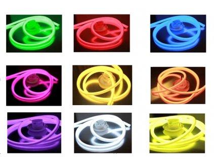 Neon pulkruhový model
