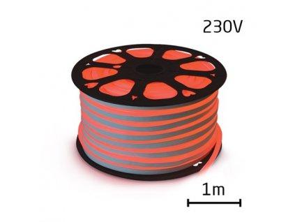 LED neon ECONOMY červená 7W/m, 8x16,4mm, 230V LV-1849