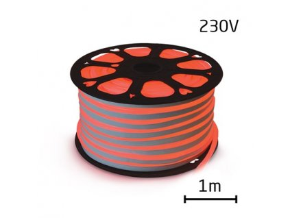 LED neon ECONOMY červená 12W/m, 8x16,4mm, 230V