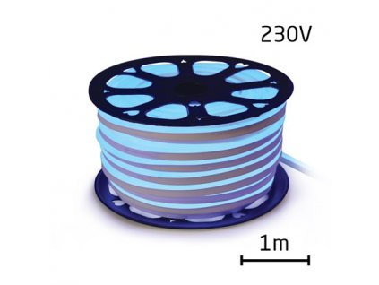 LED neon ECONOMY modrá 12W/m, 8x16,4mm, 230V