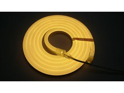 Výprodej 382cm - LED neon PROFI vystouplý 15x25mm, 24V SIKOV lighting
