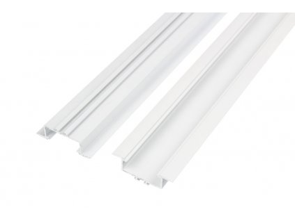 LED profil V7W vestavný bílý - Profil bez krytu 2m