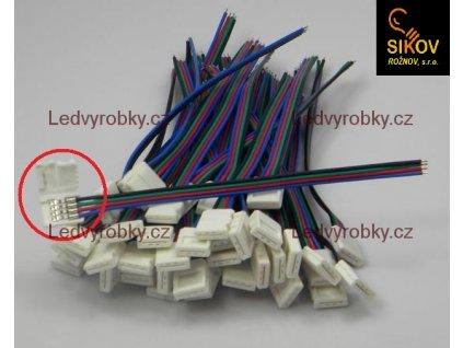 Mechanická přípojka pájecí pro RGB led pásek 5050 - pouzdro