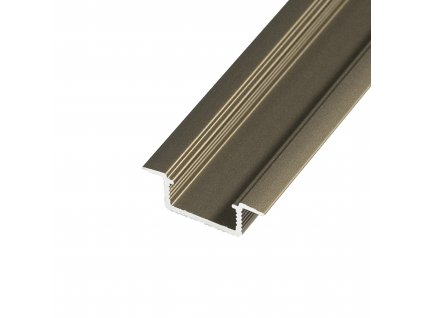 LED profil V5B - vestavný bronzový - Profil bez krytu 2m