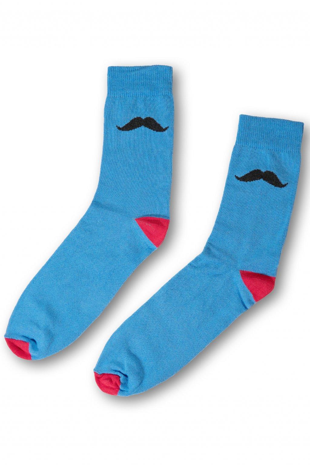modrocervene barevne vesele ponozky Le Fusek 1