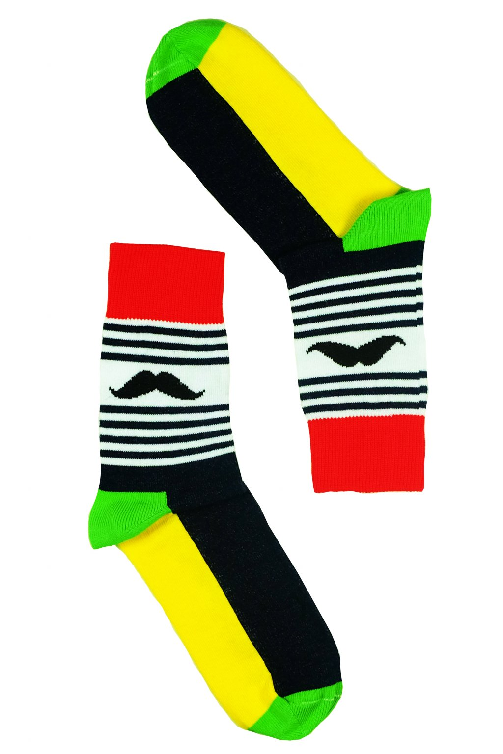 zlutozelene barevne vesele ponozky Le Fusek