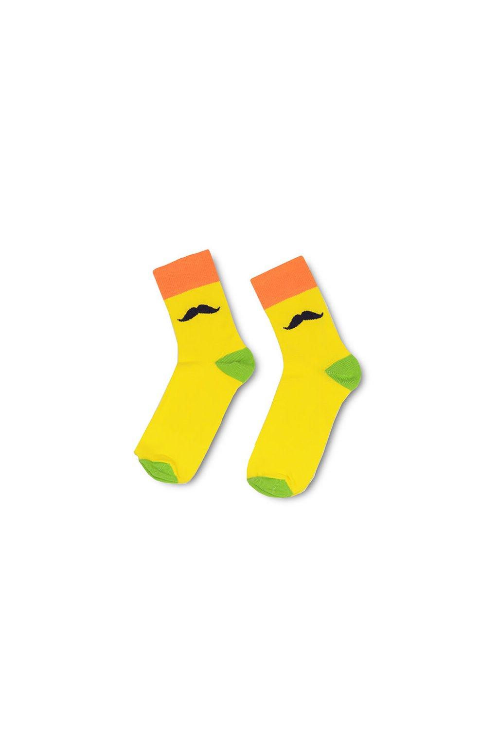 ponožky barevné žlutá zelená oranžová