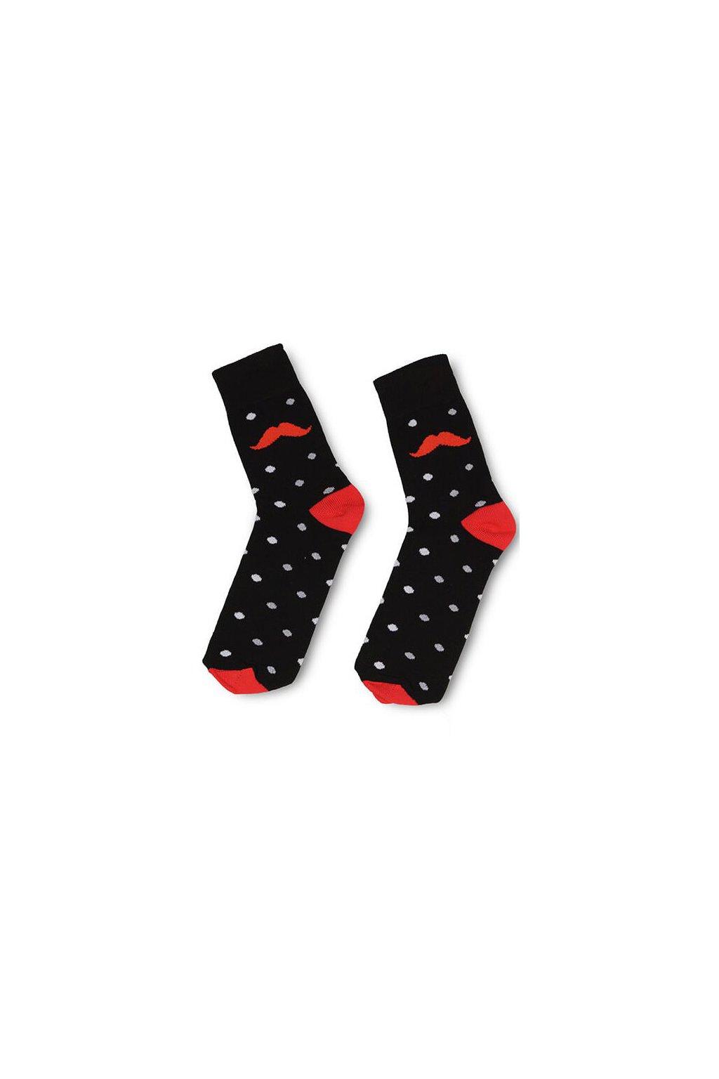 cerne puntikate barevne vesele ponozky Le Fusek