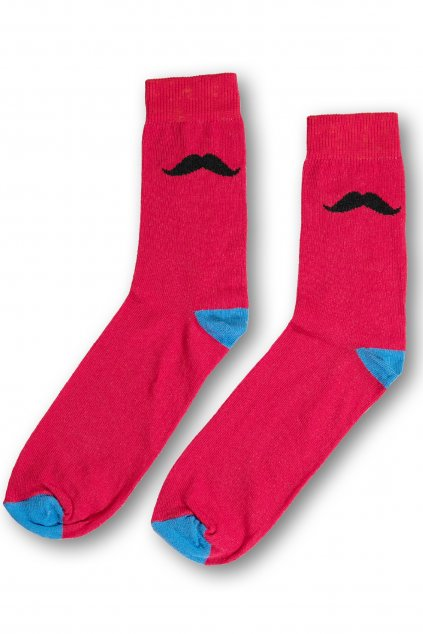 cervenomodre barevne vesele ponozky Le Fusek