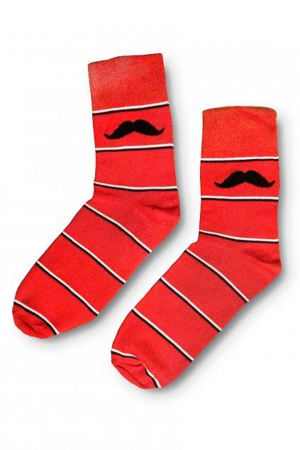 cervene barevne vesele ponozky Le Fusek 1
