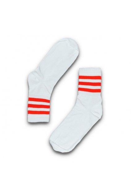 skate ponozky bilocervene