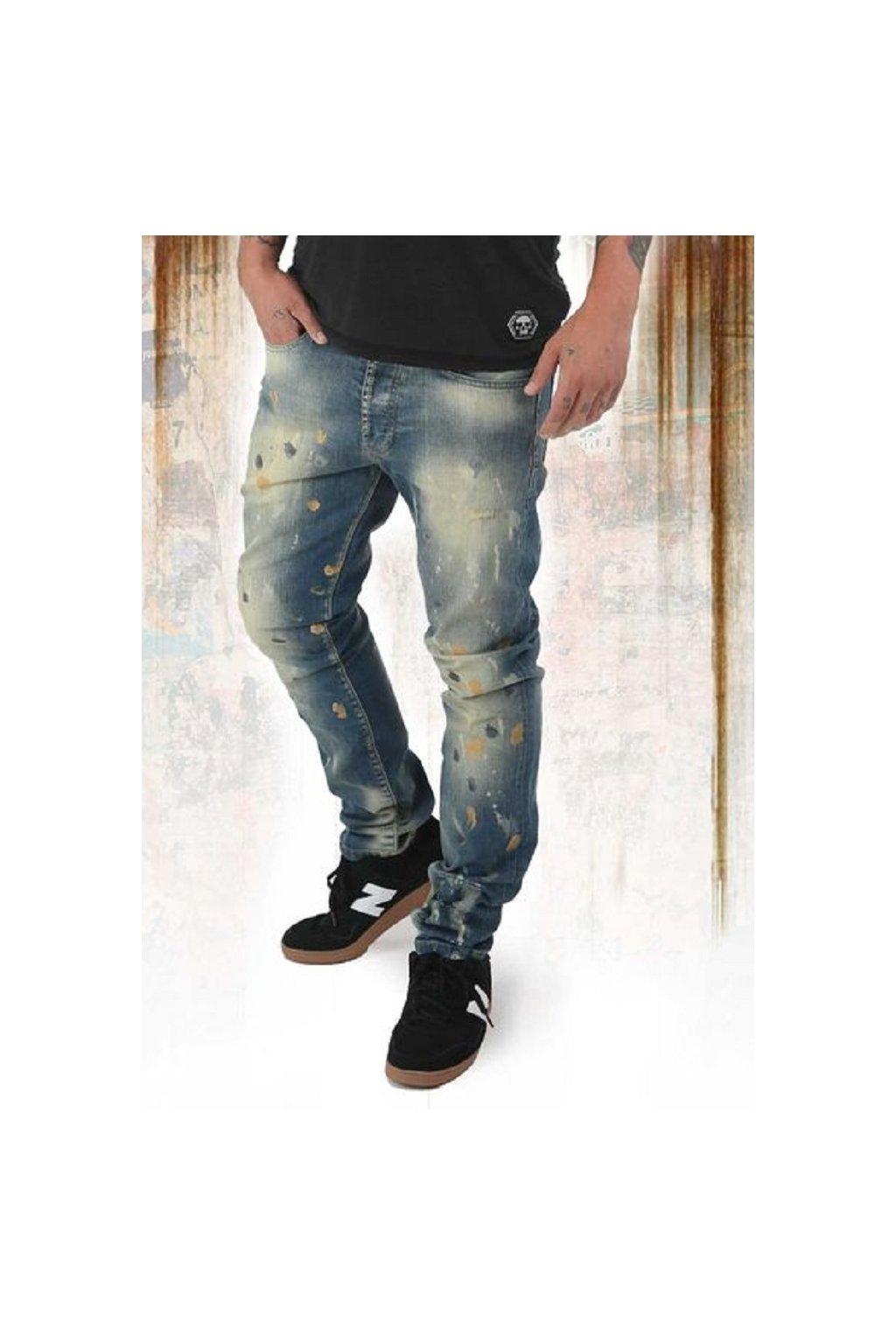 Yakuza jeansy pánské 893 STRAIGHT JEANS JEB 12078 bronzee distressed obr1
