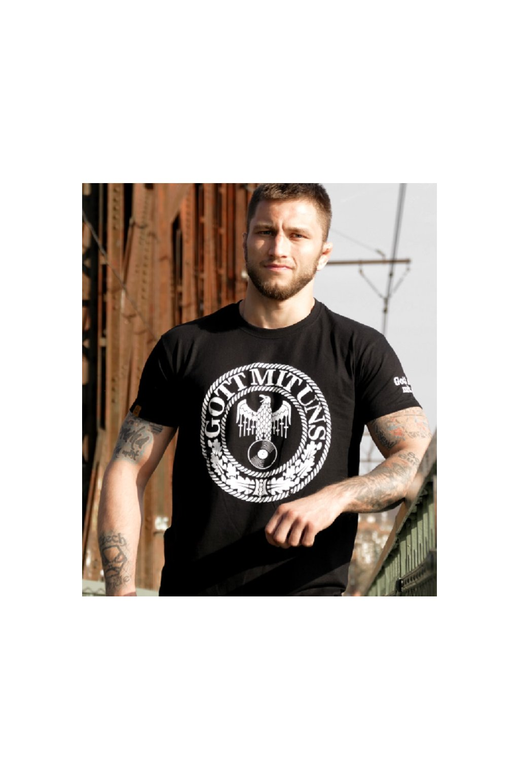 Radical Wear pánské triko GOTT MIT UNS obr1