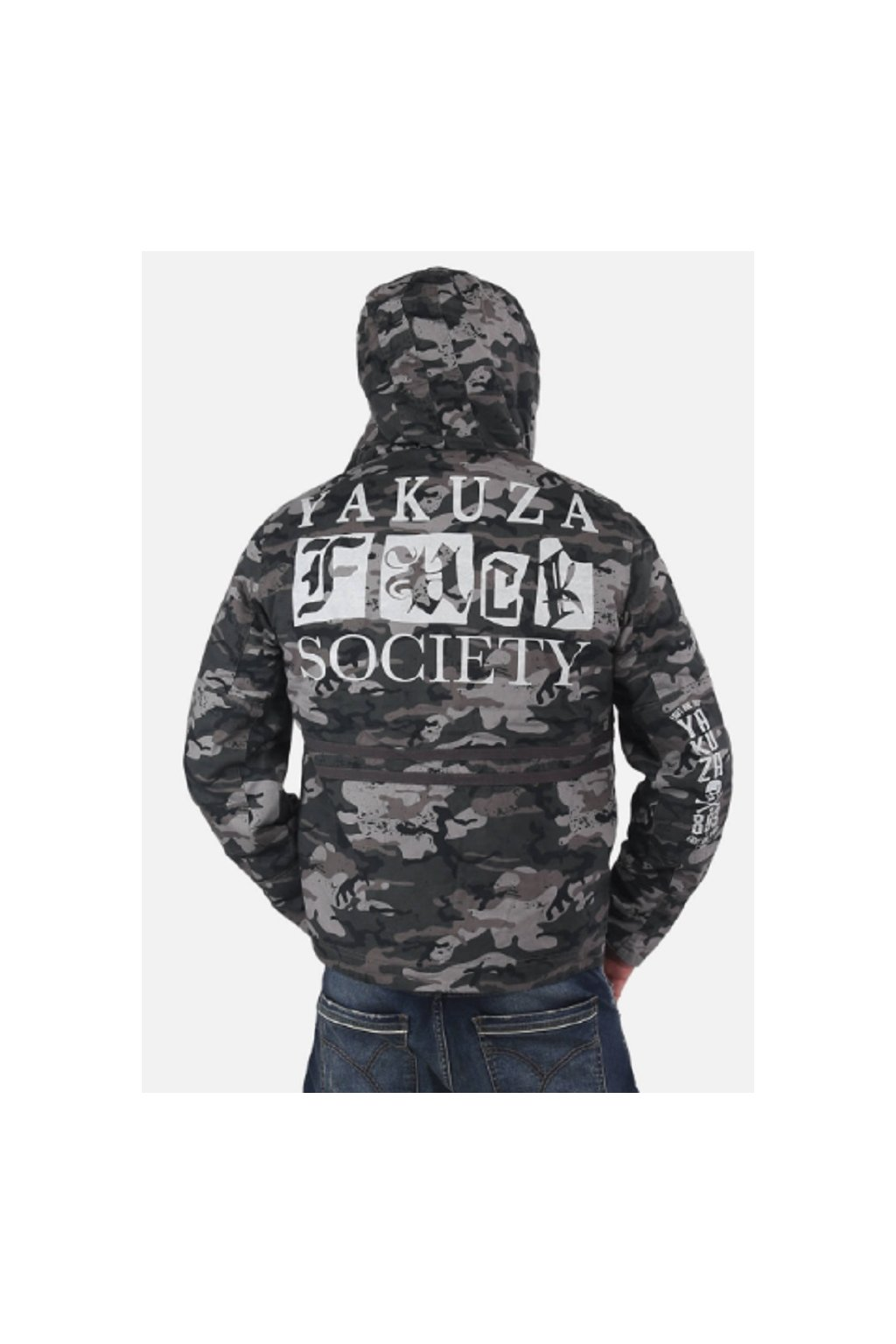 Yakuza pánská zimní bunda Fuck Society Parka WJB 14029 Camo obr1