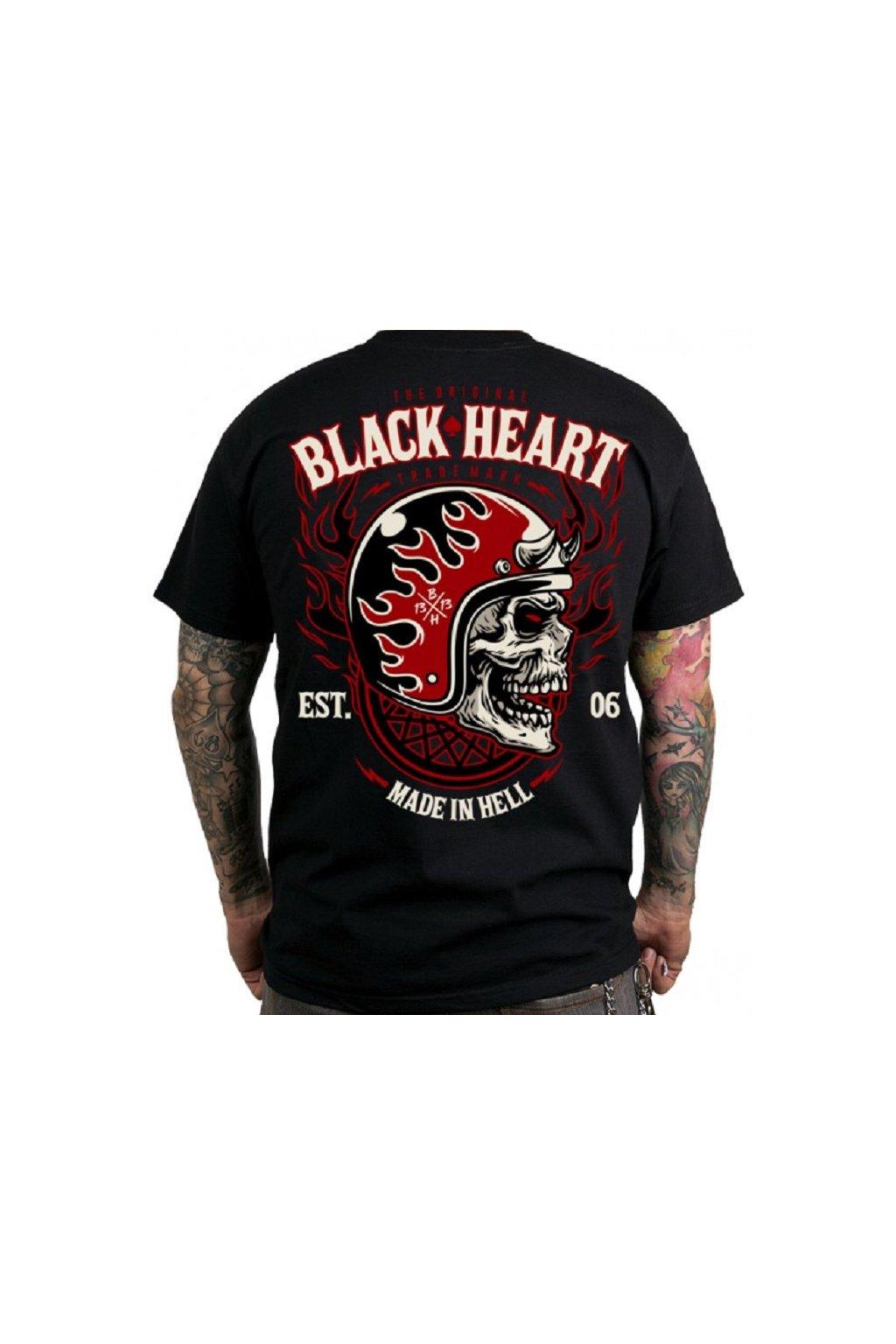 Pánské triko BLACK HEART HATTER přední strana